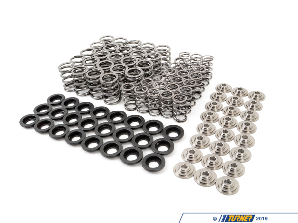 T#1504 - TMS1504 - Supertech High Performance Valve Spring Set - E36 M3, 325i, 328i - For M50, M52, M54 S50 and S52 engines, these valve springs are made with premium Superclean Chrome Silicon Vanadium Steel alloy for high performance and durability at high rpms, with better memory. These are extremely high quality, offered at the best price. Computer designed to ensure that the wire stress levels do not overpass the limits of stress defined in the diagrams of fatigue for long durability under extreme racing conditions. Computer software allows Supertech to make sure that the harmonics are well under control. The retainers are manufactured with high quality military certified Titanium alloy, CNC machined for a tight fit that will ensure a long durability.This item fits the following BMWs:1993-1999  E36 BMW 323is 323ic 325i 325is 325ic 328i 328is 328ic M31999-2005  E46 BMW 323i 323ci 325i 325ci 325xi 328i 328ci 330i 330ci 330xi 1997-2002  Z3 BMW Z3 2.3 Z3 2.5i Z3 2.8 Z3 3.0i1998-2000  Z3 BMW M Roadster M Coupe - Supertech -