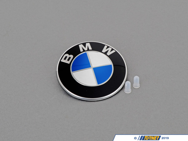 Genuine BMW BMW Trunk Emblem with Grommets For E46 3-series 51148219237G