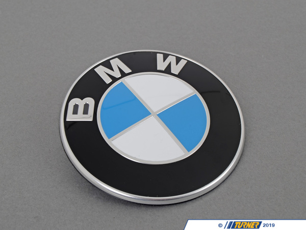 T#2268 - 51148219237G - BMW Trunk Emblem with Grommets For E46 3-series - Genuine BMW - BMW