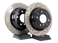 Cross-Drilled Brake Rotors - Rear - E34 525i/530i/535i/iT (pair)