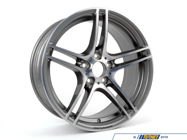 "T#5180 - 36116787647 - E9X BMW Performance Style 313 19x8.0"" ET37 Alloy Wheel - Genuine BMW - BMW"