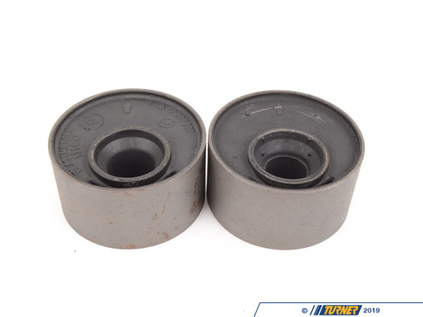 T#3655 - 31129064875 - Front Control Arm Bushings (FCAB) - Offset Rubber - E30, E36, Z3 (Pair) - Genuine BMW -