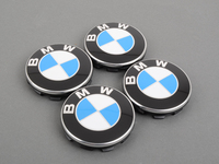 Set of 4 BMW Hub Caps - E36 E46 E9X E39 E60 + More