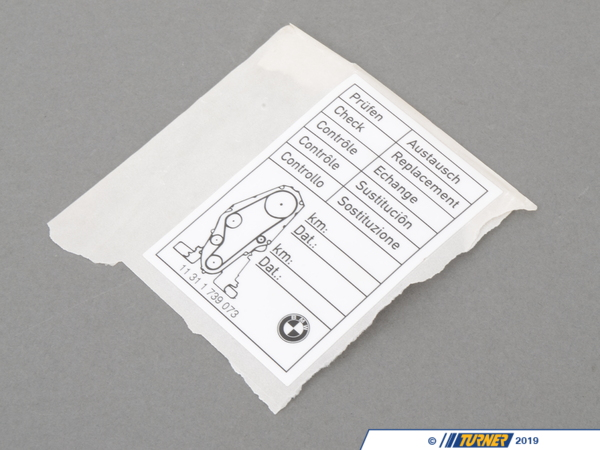 T#33963 - 11311739073 - Genuine BMW Label, Tooth Belt Change - 11311739073 - Genuine BMW -