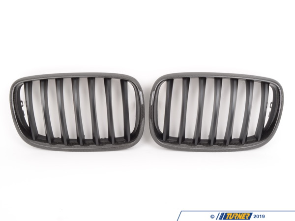 T#2622 - BM-0226 - Carbon Fiber Center Grills - E70 X5 - E71 X6 - Save 20% during the Turner 12 Days of Performance event! - Turner Motorsport - BMW