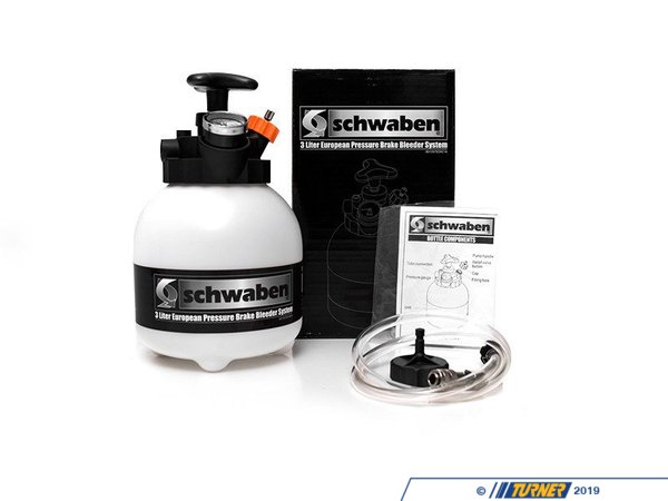 "T#363245 - 007237SCH01A - Schwaben 3-Liter European Pressure Brake Bleeder - We know bleeding brake alone is not only no fun, but much more complicated than it needs to be. Having a pressure bleeder give you the ability to keep pressure on the brake system while you go under and crack open the bleeder screws to relieve the air pockets.Features:Holds a full 3-Liters ( 3.17 qts) of brake fluidEasy to read 0-30lbs pressure gauge built into the tank topPressure relief valve for safe release of pressure40"" hose with detachable swivel fittingDo not exceed 20 PSIOne-year warranty - Schwaben - BMW MINI"