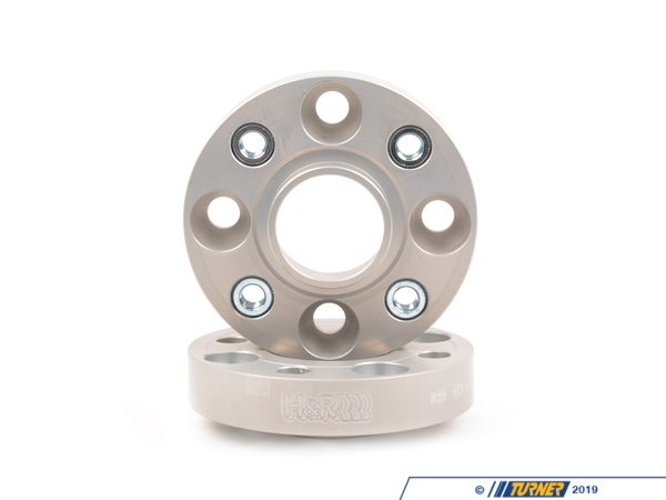 "T#169 - 5024562 - MINI R50/R52/R53 25mm H&R Bolt-On Wheel Spacers (Pair) - 25mm = .98""4/100 bolt pattern; 56.2 center boreDRA type = spacer fits in between the wheel and the hub. The spacer is bolted to the hub with special bolts (included). Your wheel bolts to the spacer.Hubcentric = Yes, this spacer comes with a new hubcentric lip for the wheel to rest onH&R's 25mm wheel spacers are Made in Germany and are TUV approved. H&R manufacturers their spacers from a super lightweight aluminum/magnesium alloy for excellent strength and also to save unsprung weight. The spacers are drilled for additional lightness and easy fitment. They are then hard anodized for durability. These are not low quality universal spacers - the bolt pattern, hub sizing, and other dimensions are designed to be used on BMW models only.This is a DRA-type spacer - the spacer is bolted to the hub with special bolts (included). You then bolt to your wheel to the spacer with your stock wheel bolts.Wheel Spacer FAQHow To Measure for SpacersWheel Spacer Encyclopedia - everything you wanted to knowThis item fits the following MINIs:2002-6/2006  R50 MINI MINI Cooper2005-6/2006  R52 MINI MINI Cooper Convertible, MINI Cooper S Convertible. 2002-6/2006  R53 MINI MINI Cooper S - H&R - MINI"