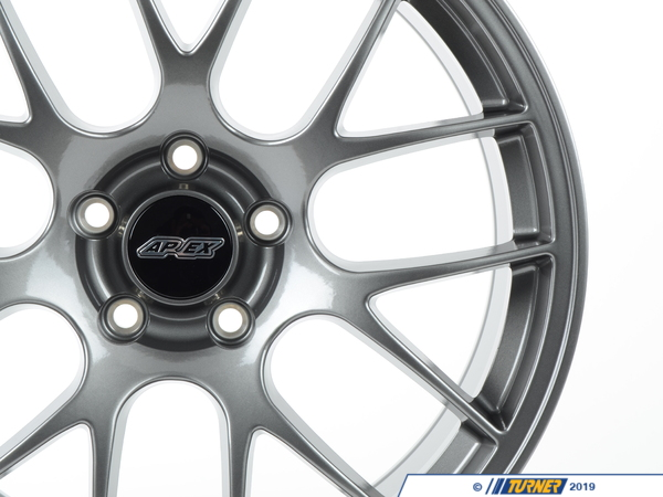 "T#201352 - EC7199ET35AN - APEX EC-7 19x9"" ET35 Anthracite Wheel 22.8lbs - APEX Wheels - BMW"