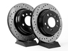 T#187 - 34211159659CD - Cross-Drilled Brake Rotors - Rear - E34 540, M5 (Pair) - StopTech - BMW