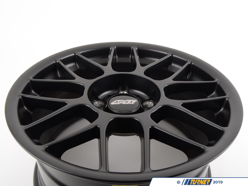 "T#180799 - ARC8179ET42SMBK - APEX ARC-8 17x9"" ET42 Satin Black Wheel 17.2lbs - APEX Wheels - BMW"