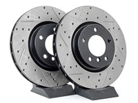 Cross-Drilled & Slotted Brake Rotors - Front - E36 M3, MZ3 (Pair)