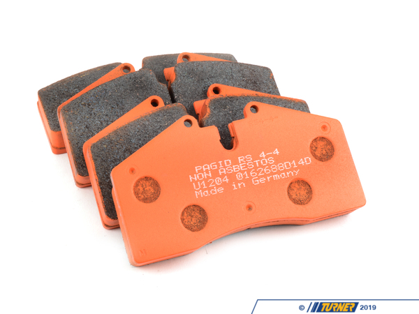 T#2525 - TMS2525 - StopTech Calipers ST40 ST45 - Race Brake Pad Set - Pagid RS4-4 Orange - Pagid Racing - BMW MINI