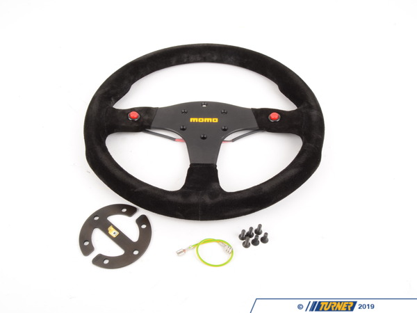 T#5515 - R1980-Suede - MOMO Mod.80 Suede Steering Wheel - Black - 350mm - MOMO - BMW