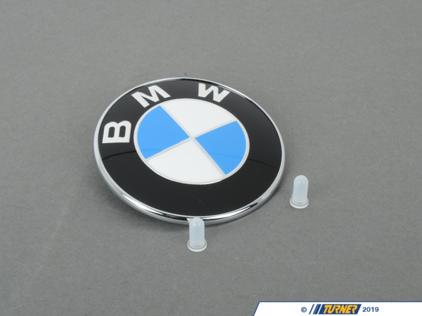 Genuine BMW BMW Trunk Emblem with Grommets For E39 5-series 51148203864G
