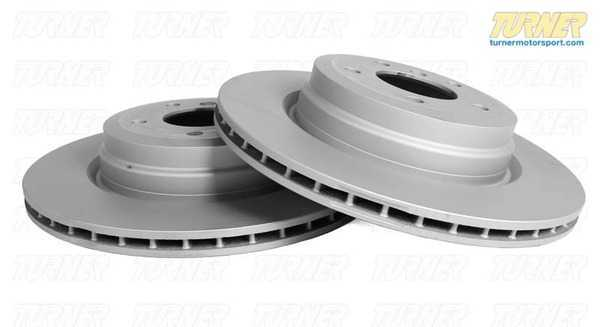 T#12287 - 34116793244 - Front Brake Rotor - E70 X5 35d, 4.8i, X6 35i () - This is a pair of Zimmerman FRONT brake rotors/discs for the E70 X5 E71 X6. Includes one left front and one right front brake rotor.Zimmermann Coated - an OEM type rotor made to the same dimensions and specs as the original design. These rotors are manufactured in Europe with a high carbon content for excellent wear and thermal resistance. We like these rotors a lot because the quality is very high and the entire rotor is coated with anti-corrosion layer to prevent rust on the hub and in the cooling vanes.This item fits the following BMWs:2007-2013  E70 BMW X5 4.8i X5 xDrive35d X5 xDrive48i2008-2010  E71 BMW X6 xDrive35i  - Zimmermann -
