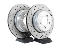 Cross-Drilled & Floating Brake Rotors - Rear - E46 M3 US/Euro/CSL/ZCP