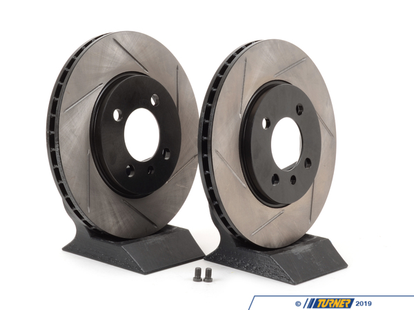 T#3080 - 34111160915GS - Gas-Slotted Brake Rotors (Pair) - Front - E30 325e 325i 325is 325ix 318is - StopTech - BMW