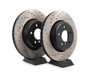 Cross-Drilled & Slotted Brake Rotors - Rear - E60 535i/545i/550i & E63 645i/650i  (Pair)