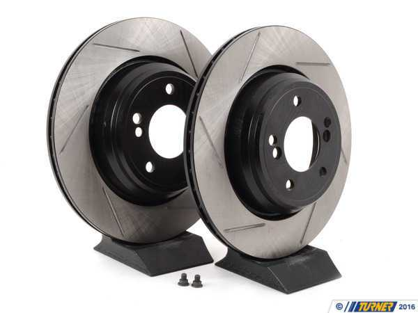 StopTech Gas-Slotted Brake Rotors (Pair) - Rear - E46 M3, E39 M5 34212229379GS