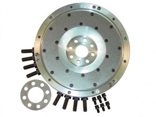T#1339 - 520-150-240 - E39 540i 97-03 JB Racing Lightweight Aluminum Flywheel - Aluminum flywheels are much lighter than the stock steel flywheel and that produces better throttle response and more available horsepower to the wheels for faster acceleration. The JB Racing aluminum flywheels are a direct replacement for the stock flywheel and work with stock clutch components for an easy upgrade with very little downside.Modern flywheels are built with additional components and features that are designed to dampen and minimize vibrations from the engine and transmission. As a result they have become bloated in weight and that means more energy is used up just making the flywheel spin. The weight difference between an aluminum and steel flywheel is huge - sometimes more than 50% less. Without the additional mass, more energy can be diverted to where it counts most - moving the car. The flywheel and clutch is one of the first areas that engine builders address when making the rotating assembly lighter for race engines. The dampening effect is just not needed on cars that are focused on performance.In addition to releasing more power to the wheels, the lighter flywheel allows the engine to spin more freely, which improves throttle response. Again, the difference is huge as you watch the revs build faster than before. With the engine spinning easier the power band comes up much sooner. The stock steel flywheel feels lazy in comparison. There is a driving adjustment required to get used to how much faster the engine revs but that's not really a downside.The JB lightweight flywheel is designed to be used with a factory organic clutch - the same clutch kit that you would get from any BMW dealer. This makes replacement clutch components easy to source and inexpensive when compared to specialized racing clutches. By using the factory BMW clutch, JB has also made the whole assembly easy to live with when used on the street. The clutch behaves the same as it originally did - just with better throttle response and more power! The JB flywheel can also be rebuilt with a new clutch contact surface - you don't have to buy a new flywheel.Aluminum flywheels are considered 'single-mass' flywheels because they do not have the same dampening designs as an original 'dual-mass' flywheel. With a single-mass design more noise and vibration may be noticeable. There are steps you can take to minimize the noise - heavier weight transmission oil and clutch discs with anti-rattle springs (sprung-hub clutch).Stock Flywheel Weight = 33.0lbsJB Flywheel Weight = 13.0lbsThis item fits the following BMWs:1997-2003  E39 BMW 540i - JB Racing - BMW