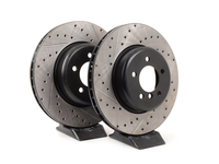 Cross-Drilled & Slotted Brake Rotors - Front - E60 535/545i/550i & E63/E64 645i/650i (Pair)