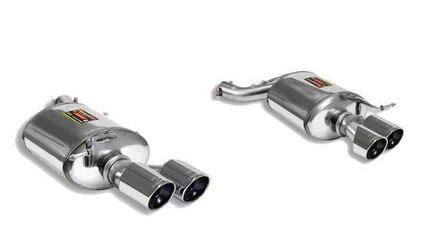 T#211249 - 980636-980606 - E90 335i/xi Supersprint Performance Mufflers (4x80mm Tips) - Free ground shipping!Supersprint's rear mufflers for the 335i and 335xi produce a pleasing but not intrusive exhaust sound. This set of mufflers are considered their 'street' system with only a modest increase in volume to give a hint of added performance without being obnoxious or annoying. This is a great set of mufflers for altering the exhaust note without drawing attention to yourself. This set uses two 80mm polished tips per side for a very muscular and imposing appearance (requires trimming of the bumper). These are a direct fit to the rest of the stock 335d exhaust.Supersprint exhaust is widely recognized as the leader in complete exhaust system upgrades - extremely high quality, well designed for optimal flow, and amazing sound. Even at a premium price Supersprint is an unbeatable exhaust system because every aspect is done to such a high level. A Supersprint exhaust rewards you with a terrific sound, long lasting construction and excellent fitment. The Supersprint sound is very 'European' which fits the sporting sophistication of BMWs perfectly. Most systems are also modular - sections can be added or removed to custom tailor the exhaust sound to your preferance. Aside from 'Race' systems, their mufflers meet European noise laws so you get a refined and tuned sound without being excessively loud. Most Supersprint systems are built with larger diameter piping to improve exhaust flow which helps the engine do less work and make more horsepower! Supersprint exhausts generally run at a premium over other systems but no other system on the market can match their quality, performance, or reputation!Specific 335d Information:section:rear mufflersconnects to:stock section 2 x-pipetip style:80mm quad roundmaterial:T304 stainless steelThis item fits the following BMWs:2007-2011  E90 BMW 335i 335xi - Sedan - Supersprint - BMW