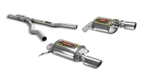 T#217652 - TMS217652 - E89 Z4 35i/35is Supersprint Cat-Back Performance Exhaust (Single Round Tips) - Supersprint - BMW