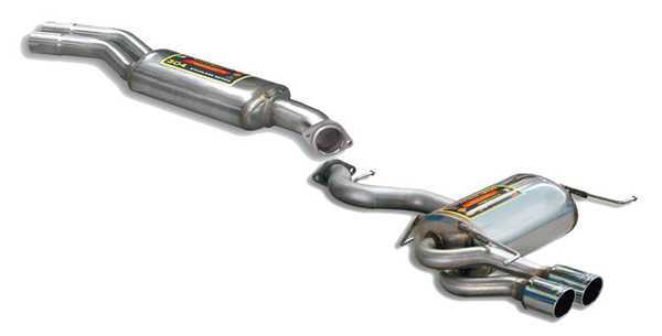 T#178022 - 980803-980806 - E92/E93 328i/xi Supersprint Euro Exhaust System (Center Resonator + Performance Muffler) - Supersprint - BMW
