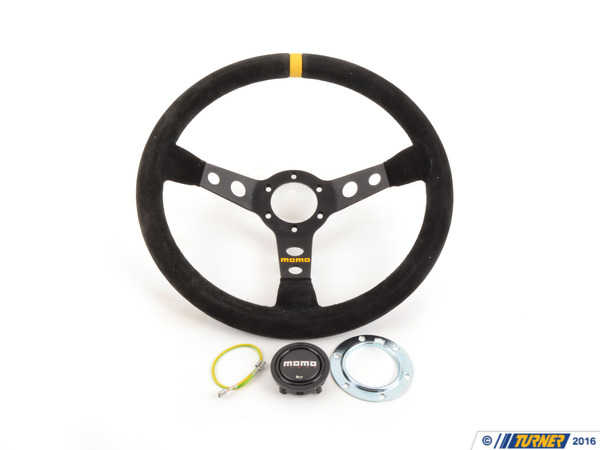 T#1863 - TMS1863 - MOMO Mod.88 Steering Wheel - Black - 350mm - MOMO - BMW
