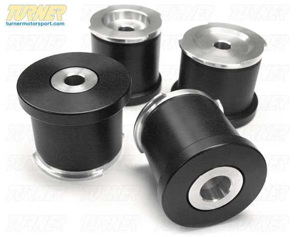 T#1573 - TDR9080SM3 - Rear Subframe Bushings/Mount Set - Turner Solid Delrin/Aluminum - E82 1M, E9X M3 - Turner Motorsport - BMW