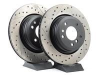 Cross-Drilled & Slotted Brake Rotors - Rear - E90 330i/Xi, E9X 335i/Xi (pair)