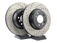 Cross-Drilled & Slotted Brake Rotors - Front - E9X 335i/335Xi (pair)
