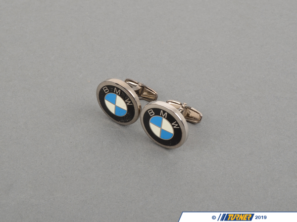 T#163860 - 80232208708 - Genuine BMW Roundel Cuff Links - Sil - 80232208708 - Genuine BMW -
