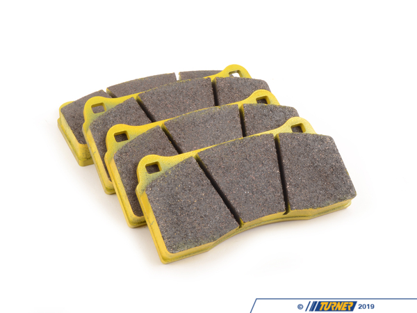 T#1989 - TMS1989 - Brembo Calipers F40, F50, B, H, GT1 - Race Brake Pad Set - Pagid RS29 Yellow - Yellow RS 29: Racing Revised endurance compound. This compound combines the outstanding wear rate of the RS19 with a slightly higher coefficient of friction and initial bite. Due to its outstanding wear rate and driveability, Pagid endurance materials are often used at sprint races as well.This pad set fits the following Brembo 4-piston calipers:F40 / F50 / Type B / Type H / GT1 / Monobloc PF40 calipers are found in many Brembo GT Big Brake Kits, including these BMW models:2008-2012  E82 BMW 128i 135i 1M Coupe1992-1998  E36 BMW 318i 318is 318ti 318ic 323is 323ic 325i 325is 325ic 328i 328is 328ic M31999-2005  E46 BMW 323i 323ci 325i 325ci 325xi 328i 328ci 330i 330ci 330xi M32006-2011  E90 BMW 325i 325xi 328i 328xi 328i xDrive 330i 330xi 335d 335i 335xi 335i xDrive M3 - Sedan2006-2012  E91 BMW 325xi 328i 328xi 328i xDrive - Wagon2007-2013  E92 BMW 328i 328xi 328i xDrive 335i 335is 335xi 335i xDrive M3 - Coupe2007-2013  E93 BMW 328i 335i M3 - Convertible2012+ F30 BMW 328i 335i - Sedan1989-1995  E34 BMW 525i 530i 535i 540i M51997-2003  E39 BMW 525i 528i 530i 540i M52004-2010  E60 BMW 525i 525xi 530i 530xi 528i 528xi 528i xDrive 535i 535xi 535i xDrive 545i 550i M52010+  F07 BMW 535i GT, 535i xDrive GT, 550i GT, 550i xDrive GT2011+  F10 BMW 528i 535i 535i xDrive 550i 550i xDrive M52004-2011  E63 BMW 645ci 650i M62012+  F13 BMW 640i 650i1988-1994  E32 BMW 735i 735il 740i 740il 750il1995-2001  E38 BMW 740i 740il 750il2002-2008  E65 BMW 745i 745li 750i 750li 760i 760li2009+ F01 BMW 740i 740li 750i 750li 750i xDrive 750li xDrive 760li1990-1999  E31 BMW 840i 840ci 850i 850ci 850csi2004-2010  E83 BMW X3 2.5i X3 3.0i X3 3.0si2011+  F25 BMW X3 xDrive28i X3 xDrive35i2000-2006  E53 BMW X5 3.0i X5 4.4i X5 4.6is X5 4.8is2007-2013  E70 BMW X5 3.0si X5 4.8i X5 xDrive30i X5 xDrive35d X5 xDrive35i X5 xDrive48i X5M2008+  E71 BMW X6 xDrive35i X6 xDrive50i X6M1997-2002  Z3 BMW Z3 1.9 Z3 2.3 Z3 2.5i Z3 2.8 Z3 3.0i M Roadster M Coupe2003-2008  E85 BMW Z4 2.5i Z4 3.0i Z4 3.0si Z4 M Roadster M Coupe2009+  Z4 BMW Z4 sDrive30i Z4 sDrive35i Z4 sDrive35is - Pagid Racing - BMW MINI