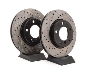 Cross-Drilled & Slotted Brake Rotors - Front - E36 (except M3), E46 323i/Ci, Z3 (except M) (pair)