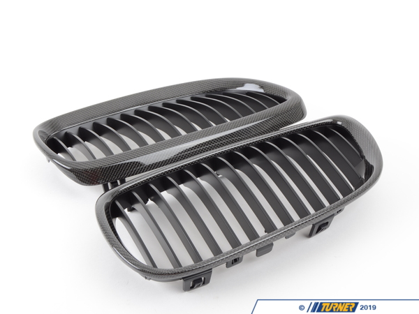 T#1403 - CFG927BY1 - Carbon Fiber Center Grills - E92 3 Series Coupe, E90/E92 M3 - Turner Motorsport - BMW