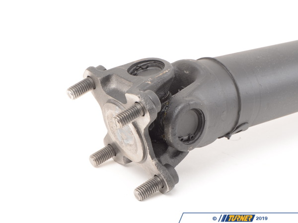 T#4979 - 385X - Driveshaft - Z3 M Roadster M Coupe - Manual Transmission 1998-2002 - Got a vibration through the driveline on your BMW? Did you know that the u-joints are not replaceable on a factory driveshaft?Our remanufactured driveshafts allow for future replacement of u-joints and are rebuilt to a higher specification than the factory driveshaft.We start with OEM u-joints and then machine yokes onto the driveshaft to allow for future u-joint replacement.All bushings, universal joints, center bearings are replaced with new hardware (flex discs are not included but available separately).The whole unit is then dynamically balanced on a precision Axiline Balancer.Included in the price of the driveshaft is UPS return label, so you can return your core for refund quickly, easily and without additional expense.This item fits the following BMWs:1998-2002  Z3 BMW M Roadster M CoupeIncludes $180.00 core charge to be refunded on return of your rebuildable core. - Turner Motorsport - BMW