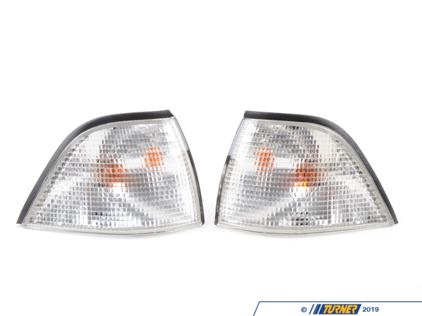 T#3583 - TMS3583 - E36 Euro Clear Front Turn Signals (pair) - E36 Coupe & Convertible - Turner Motorsport - BMW