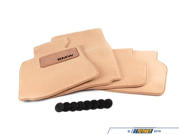 T#16391 - 82111469760 - Genuine BMW Floor Mat Set SAND BEIGE for 1997-2003 E39 5 Series - Genuine BMW -