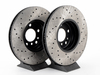 T#12139 - 34116765457CD - Cross-Drilled Brake Rotors - Front - E53 X5 3.0i 4.4i 8/00-06 - StopTech - BMW