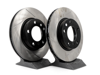 T#3844 - 34211164401GS - Gas-Slotted Brake Rotors (Pair) - Front - E36 318/323/325/328i/is, E46 323i/Ci - StopTech - BMW
