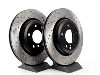 Cross-Drilled & Slotted Brake Rotors - Rear - E46 330i 330Ci 330xi (pair)