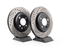 Cross-Drilled & Slotted Brake Rotors - Front - MINI Cooper/Cooper S 02-06 (Pair)