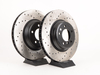 T#2832 - 34116770729CD - Cross-Drilled Brake Rotors - Front - E9X 335i/335Xi (pair) - StopTech - BMW