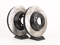 Cross-Drilled Brake Rotors - Front - E9X 335i/335Xi (pair)
