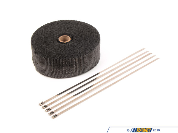 "T#385018 - HEA-WRAPKIT-BLK - Fiberglass Exhaust Wrap - Black - 2"" x 50' - Prosport Performance - BMW MINI"