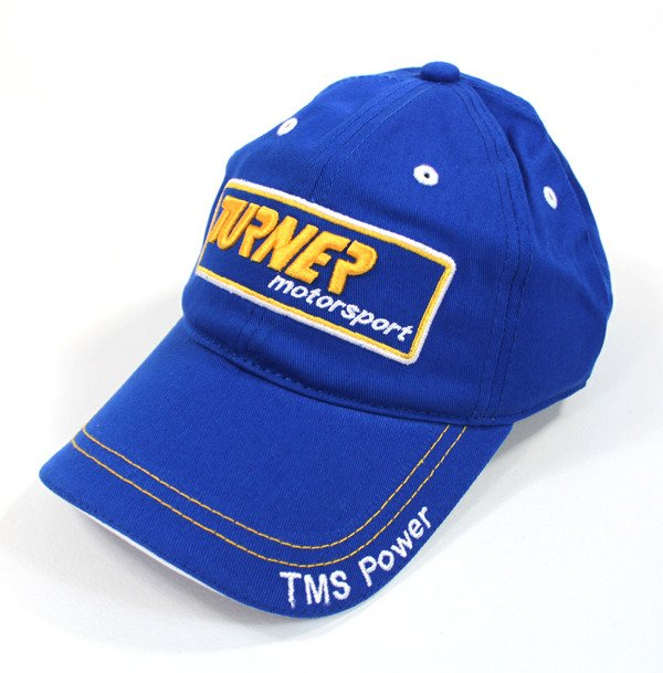 "T#422 - TMSHAT - Turner Motorsport Baseball Cap / Hat - One size fits all, 100% cotton, embroidered baseball cap.  The hats have ""Championship BMW Race Team"" on the back. These are the same hats that are worn by the 2009 Championship winning Turner motorsport Grand-Am/Koni Challenge race team.  All include ""Championship BMW Race Team"" on the back. (Ask for yours autographed by one of our drivers too ! ) - Turner Motorsport -"