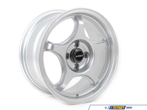"T#1430 - LTW515X7 - D-Force LTW5 15x7.0"" ET25 Silver Wheel 13lbs - E30 318i/is & 325i/is - D-Force Wheels - BMW"