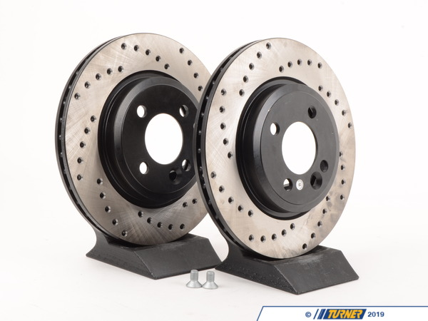 Packaged by Turner Cross-Drilled Brake Rotors - Front - MINI Cooper/Cooper S 02-06 (Pair) 34111502891CD
