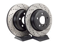 Cross-Drilled Brake Rotors - Rear - E83 X3 2004-2010 (pair)